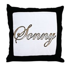 Gold Sonny Throw Pillow