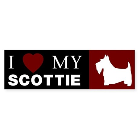 I LOVE MY SCOTTISH TERRIER Bumper Sticker