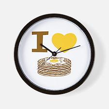 I Love Pancakes Wall Clock