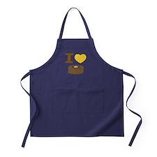 I Love Pancakes Apron (dark)
