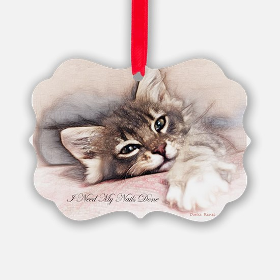 Kitten Nails Ornament