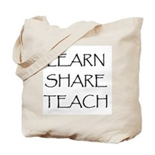 Learn Share Teach Tote Bag