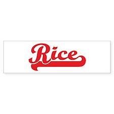 Rice (retro-sport-red) Bumper Bumper Sticker