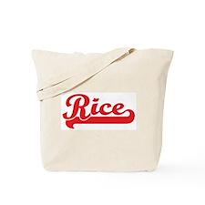 Rice (retro-sport-red) Tote Bag