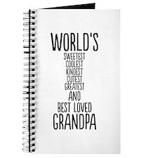 Best Loved Grandpa Journal