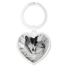 Funny Wolfpack Heart Keychain