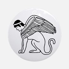 Ptolemaic Winged Sphynx Ornament (Round)