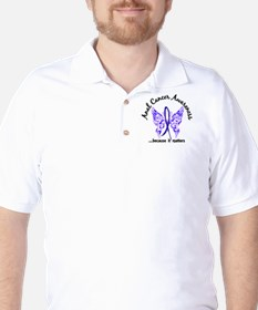 Anal Cancer Butterfly 6.1 T-Shirt