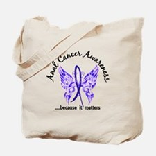 Anal Cancer Butterfly 6.1 Tote Bag