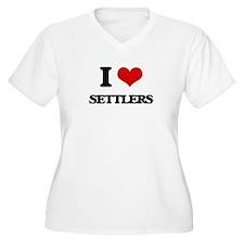 I Love Settlers Plus Size T-Shirt