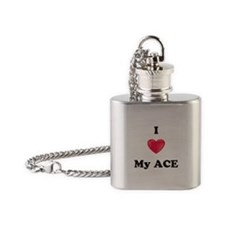 I Love My Ace Flask Necklace