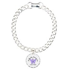 Arthritis Butterfly 6.1 Charm Bracelet, One Charm