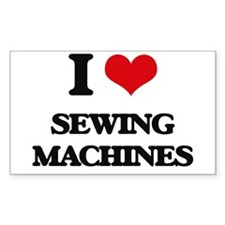 I Love Sewing Machines Decal