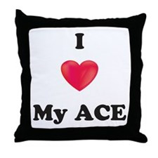 I Love My Ace Throw Pillow