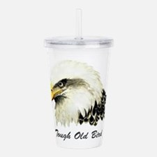 Tough Old Bird Quote with Bald Eagle Acrylic Doubl