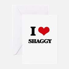 I Love Shaggy Greeting Cards