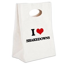 I Love Shakedowns Canvas Lunch Tote