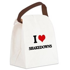 I Love Shakedowns Canvas Lunch Bag
