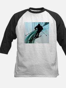 Downhill Skier on Icy Ribbons.jpg Baseball Jersey