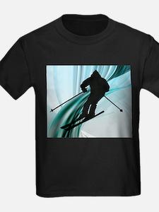 Downhill Skier on Icy Ribbons.jpg T-Shirt