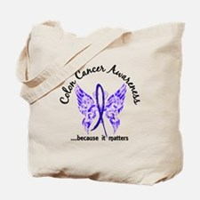 Colon Cancer Butterfly 6.1 Tote Bag