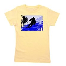 Downhill on the Ski Slope Edges.png Girl's Tee
