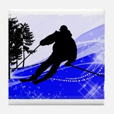 Downhill on the Ski Slope Edges.png Tile Coaster