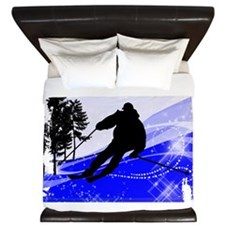 Downhill on the Ski Slope Edges.png King Duvet