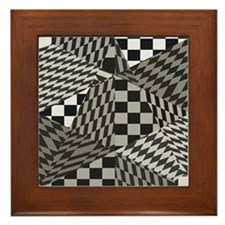 Fractal Paradise Framed Tile