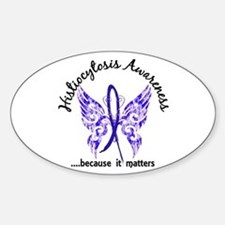 Histiocytosis Butterfly 6.1 Sticker (Oval)