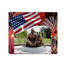 German Shepherd War Dog Memorial Throw Blanket