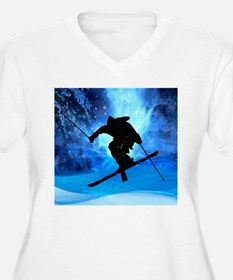 Winter Landscape and Freestyle S Plus Size T-Shirt