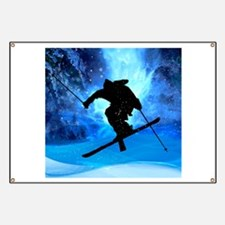 Winter Landscape and Freestyle Skier.png Banner