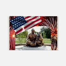 German Shepherd War Dog Memorial Magnets