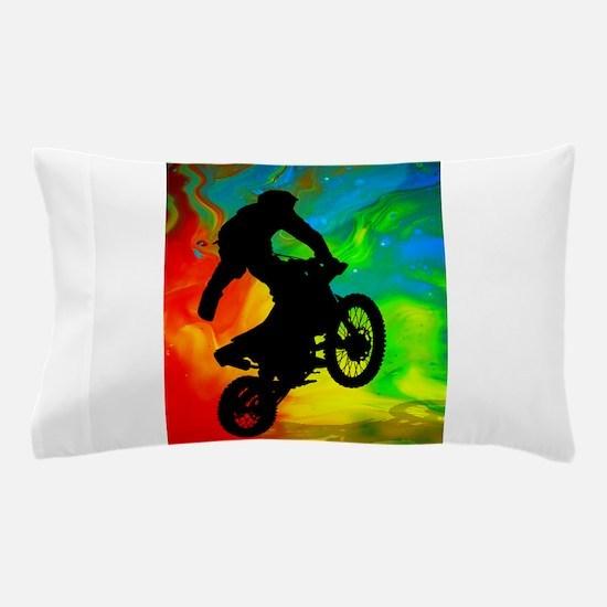 Motocross in a Solar Melt Down .png Pillow Case