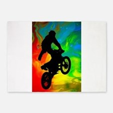 Motocross in a Solar Melt Down .png 5'x7'Area Rug