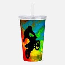 Motocross in a Solar M Acrylic Double-wall Tumbler