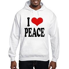 I Love Peace (word) Hoodie