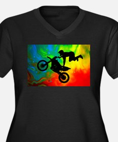 Solar Flare Up Motocross Plus Size T-Shirt