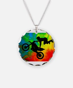 Solar Flare Up Motocross.png Necklace
