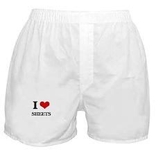 I Love Sheets Boxer Shorts