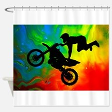 Solar Flare Up Motocross.png Shower Curtain