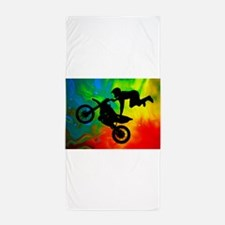 Solar Flare Up Motocross.png Beach Towel