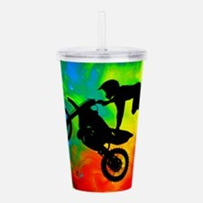 Solar Flare Up Motocro Acrylic Double-wall Tumbler