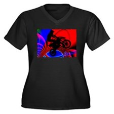 Motocrossing Going Loopy Edges Plus Size T-Shirt