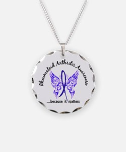RA Butterfly 6.1 Necklace Circle Charm
