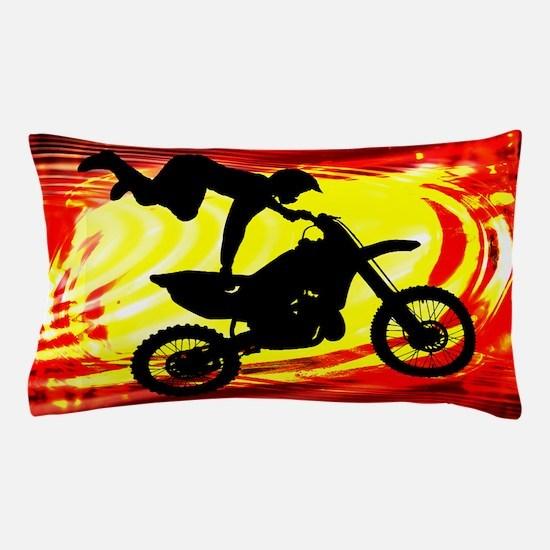 Explosive Motocross Jump.png Pillow Case
