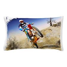 Desert Wheelie Motocross with Edges.pn Pillow Case