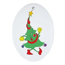 Christmas Tree Oval Ornament