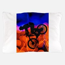 BMX in Light Crystals and Lightning.pn Pillow Case
